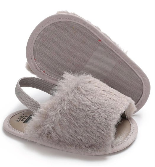 Image of Grey Baby Spa Slippers