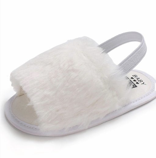 Image of White Baby Spa Slippers