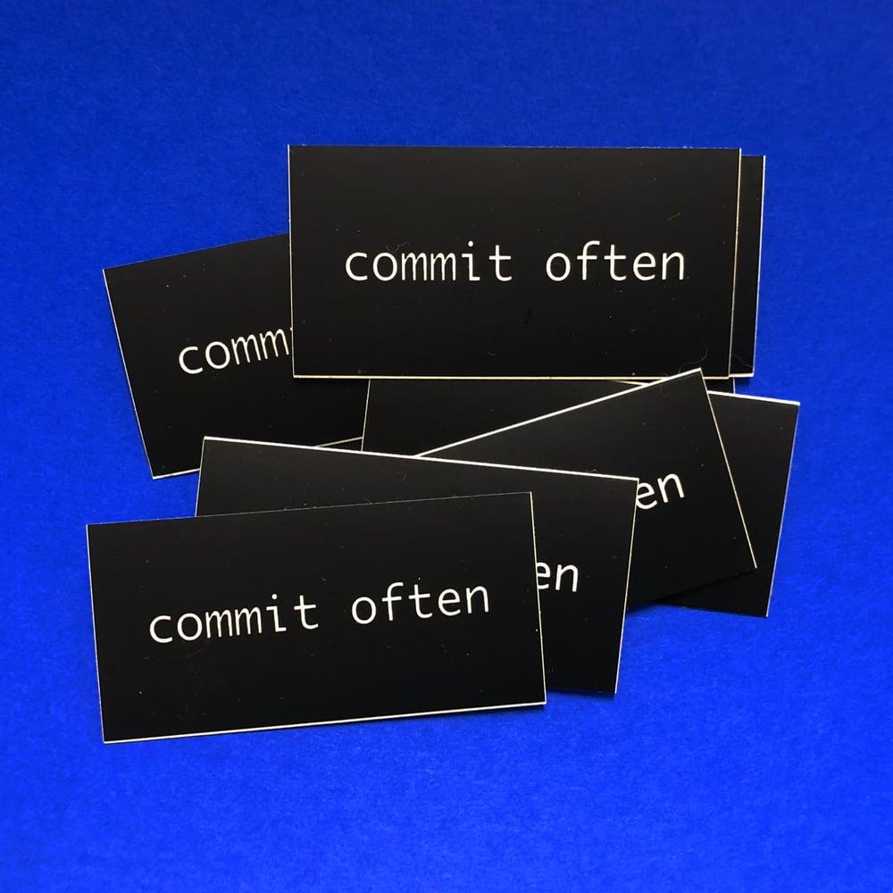 Image of Commit Often Sticker