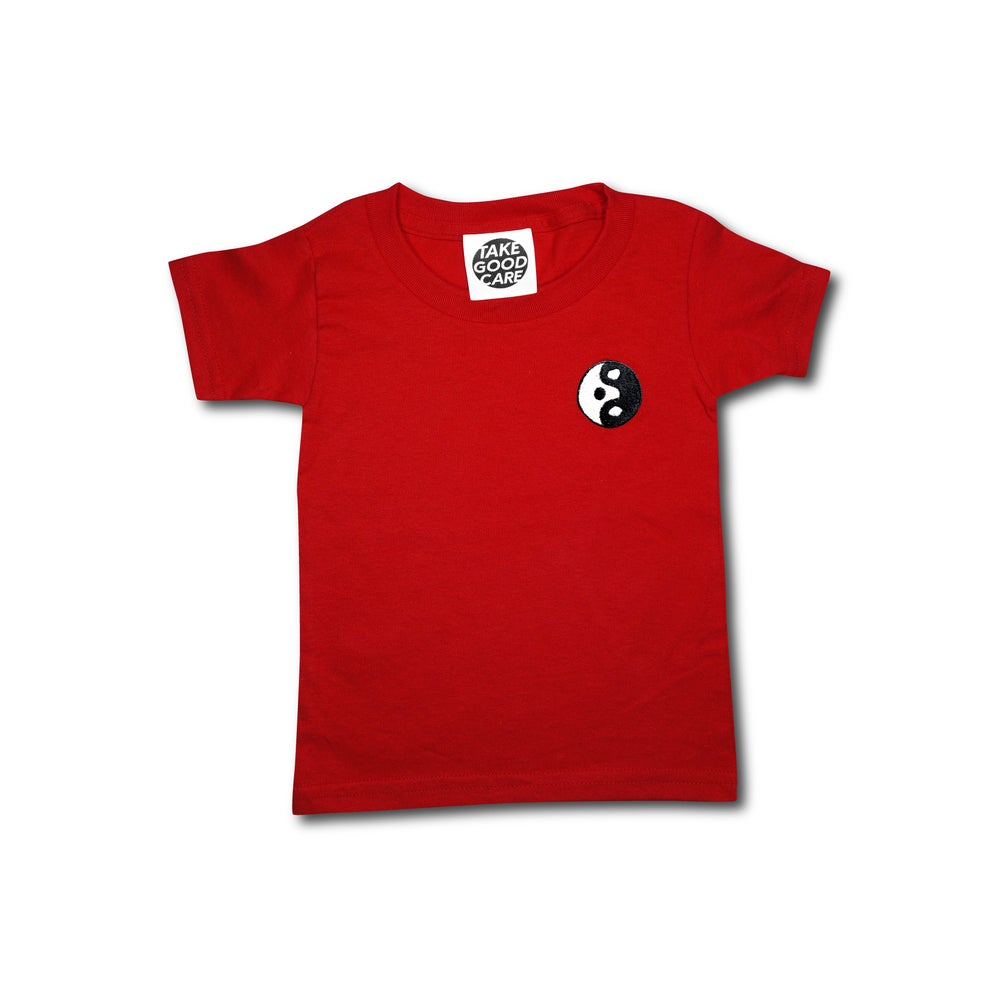 "Image of TAKEGOODCARE™ ""YINYANGISH"" KID TEE RED"
