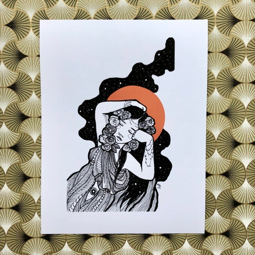Image of Inktober: The Sleeping Lady Card & Print