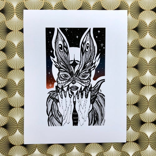Image of Inktober: Starry Skies (Card & Print Available)