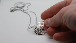 Image of 925 Sterling Silver Tree Chain