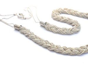 Image of Braided chain - white gold