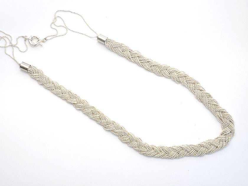 Image of Braided chain - white with gold sparkle
