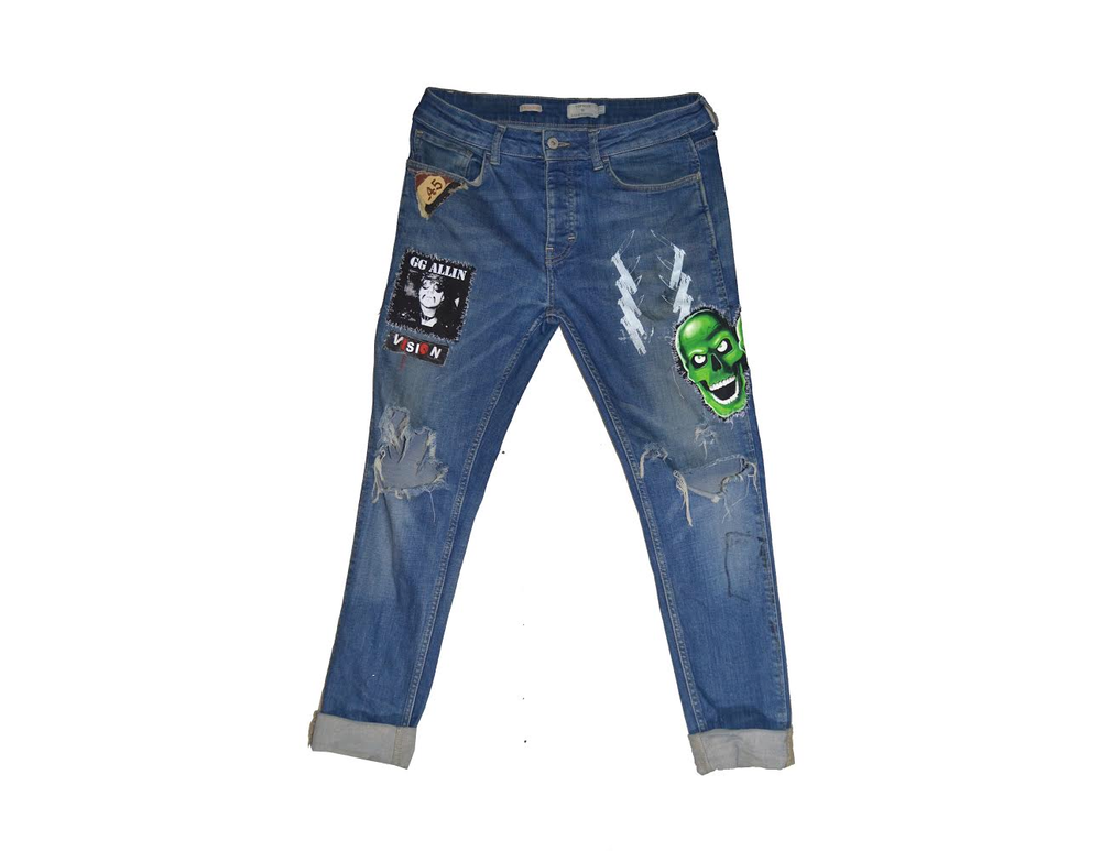 "Image of ""WARINMYHEAD"" - DENIM PANTS (SKINNY)"