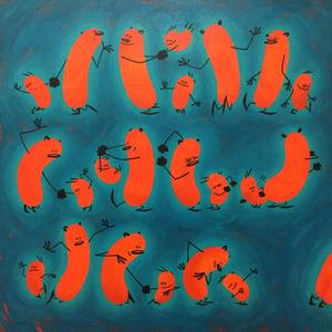 Image of The Dance (Calbean and Hobbes) - ORIGINAL ARTWORK
