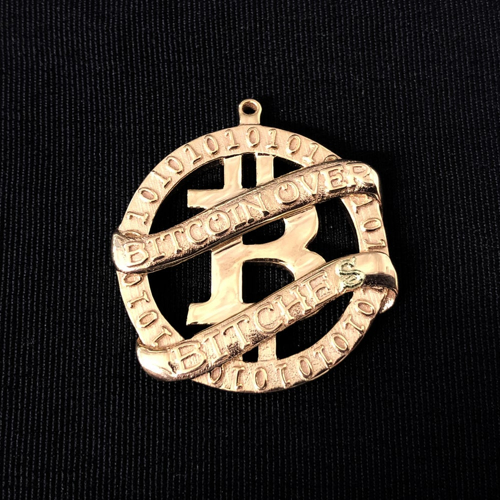 Image of Gold Bitcoin Over Bitches Medallion