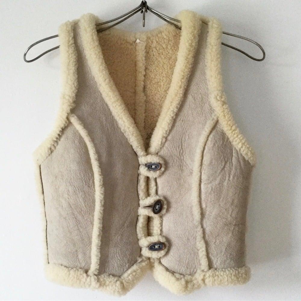 Image of Vintage 70s Shearling Vest