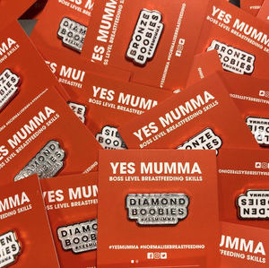 Image of YES MUMMA ® HARD ENAMEL PIN BADGE