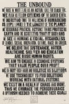 THE HUMAN CAUSE <br> Hand Pulled Letterpress