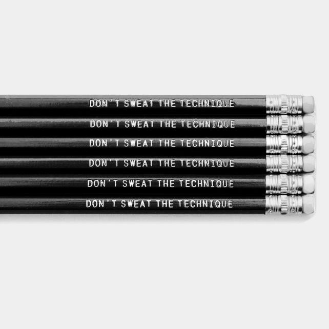 "Image of Eric B. & Rakim ""Don't Sweat The Technique"" Pencil"