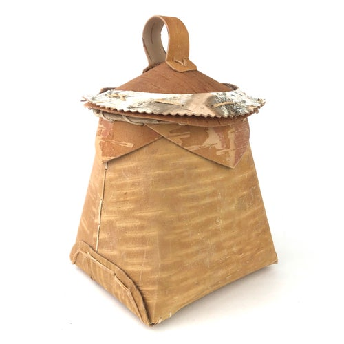 Image of Birchbark Basket with Lid