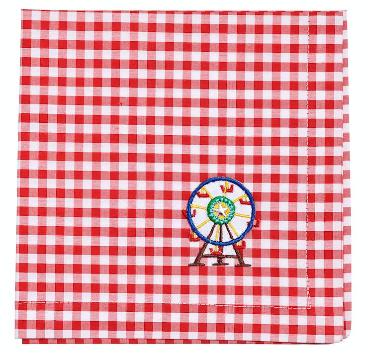 Image of CARROUSEL KIDS COLLECTION placemat and napkin set & tote bag/ set tovaglietta e tovagliolo con borsa