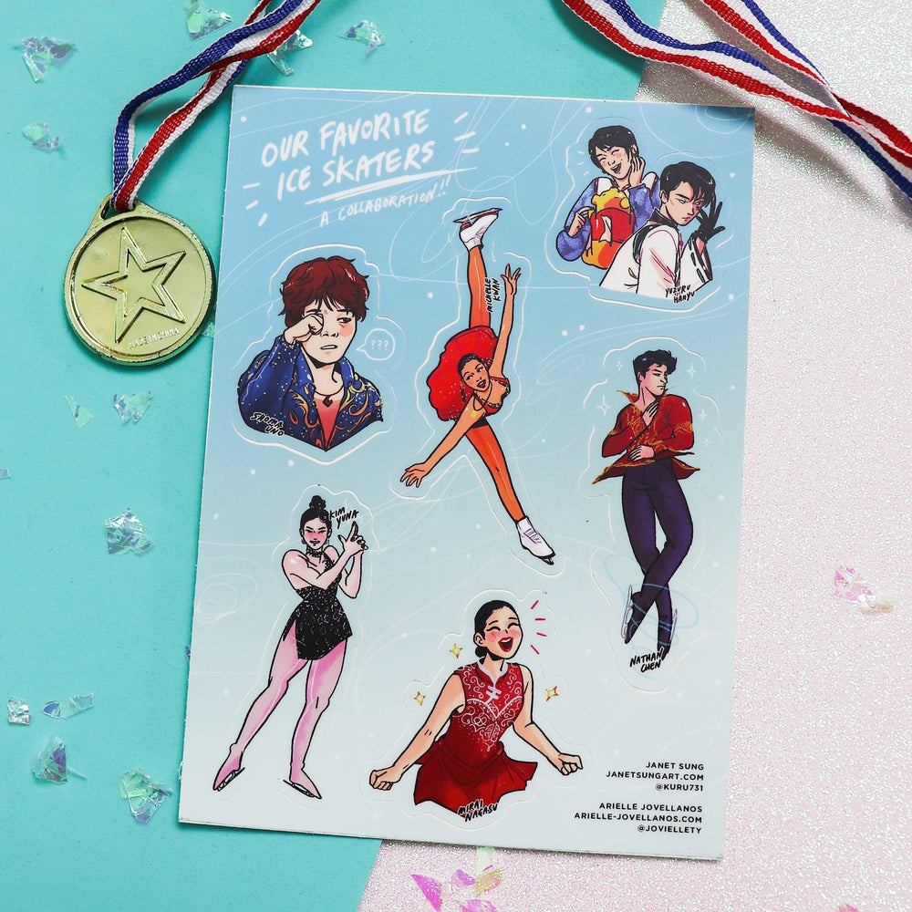 "Image of ""Our Favorite Ice Skaters"" Sticker Sheet"