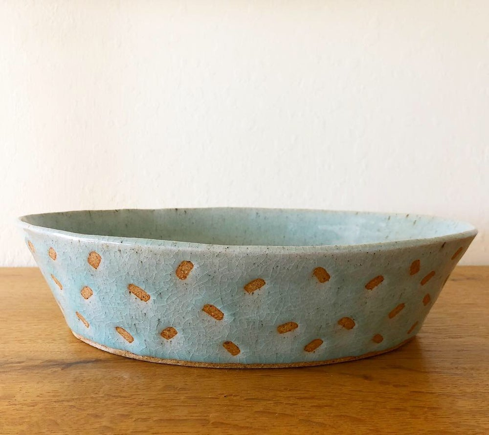 Image of Patterned Oval Bowl