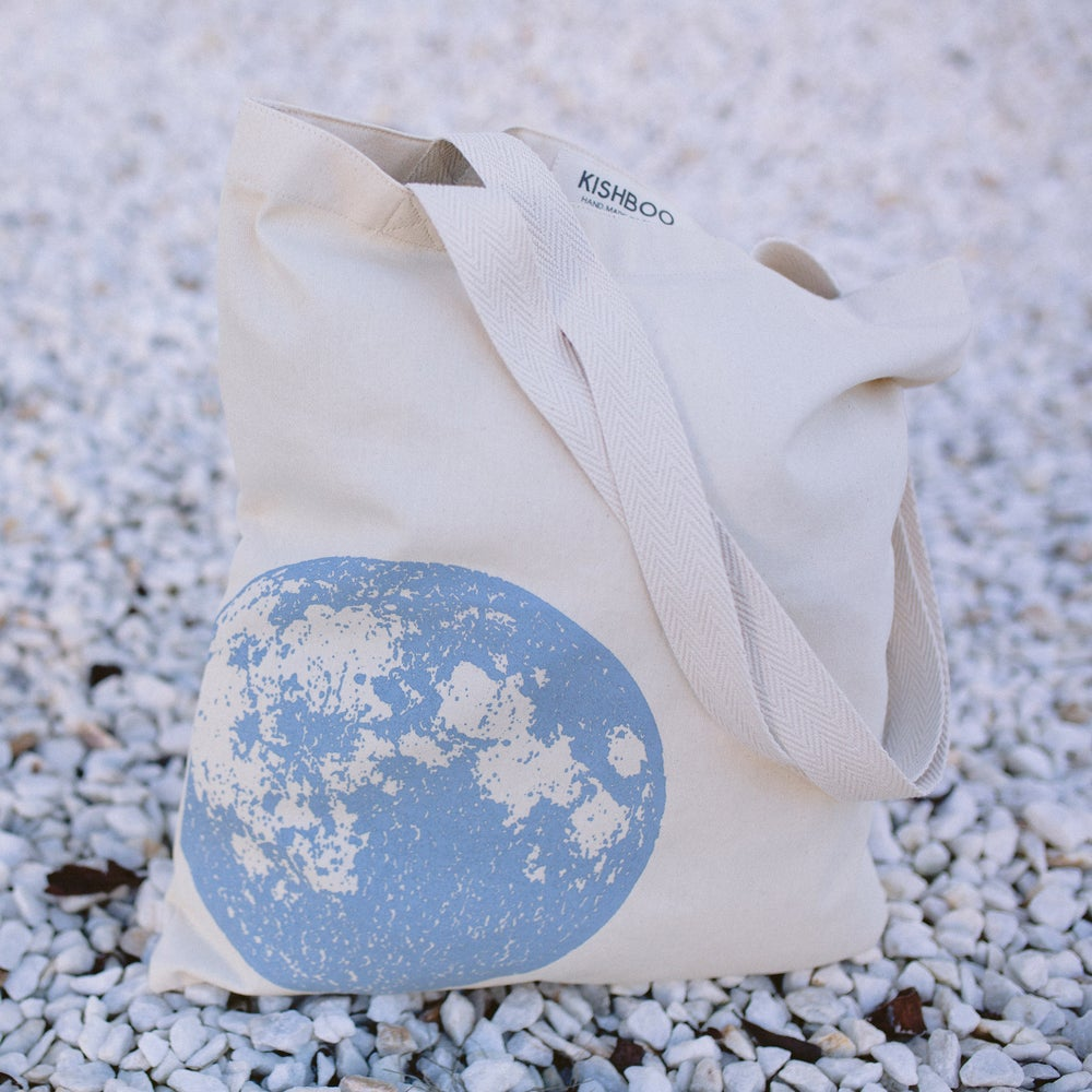 Image of BLUE FULL MOON - TOTE BAG