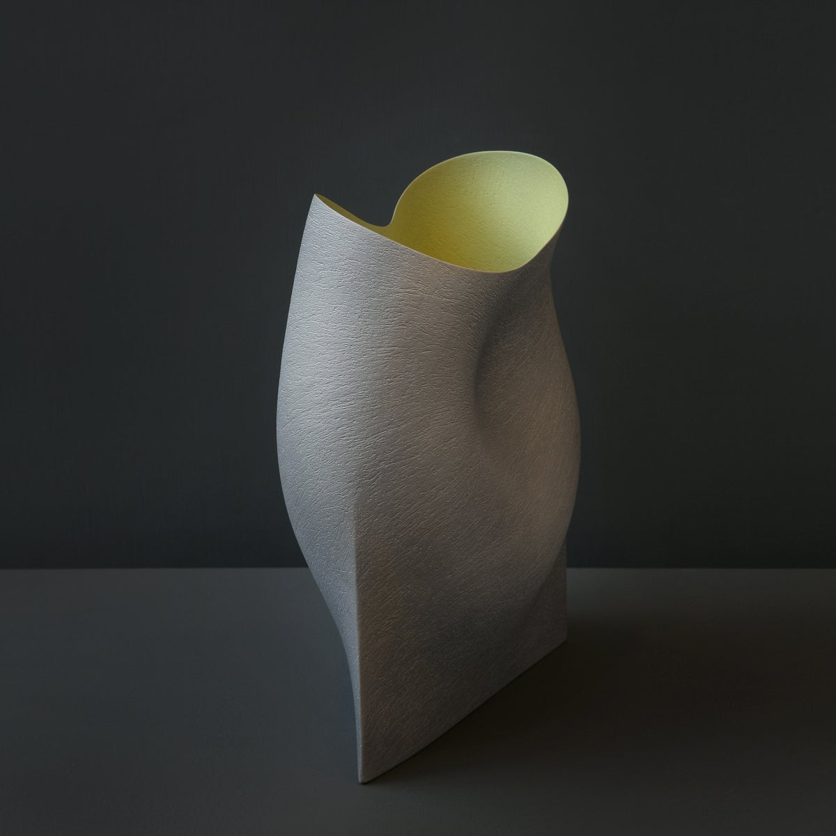 Image of Grey Undulating Vessel by Ashraf Hanna
