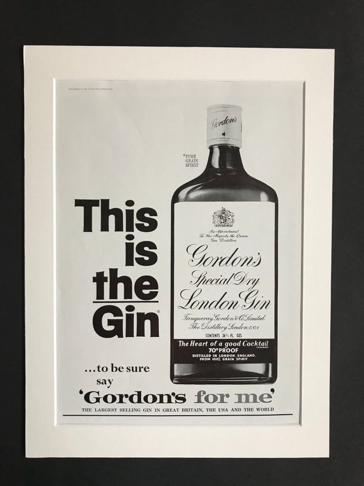 Image of Gordons Gin Advertisement 1966