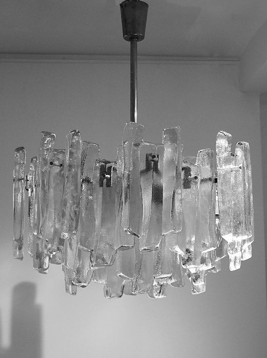 "Image of Kalmar ""Fuente"" Glass Chandelier"