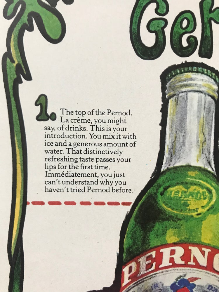 Image of Pernod Advertisement 1964