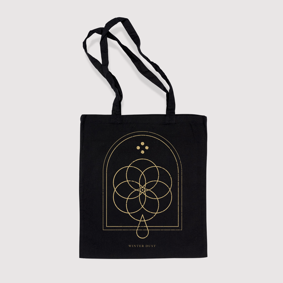 Image of Sense by Erosion Black Tote Bag