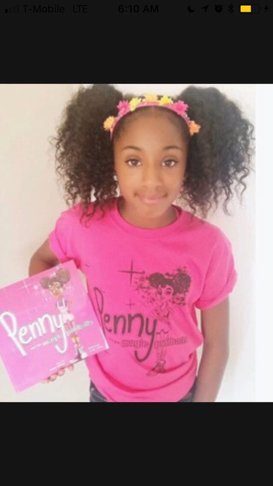 Image of Pink and Black Penny Tee only