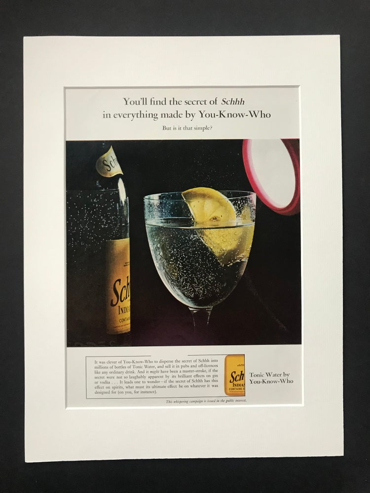 Image of Schweppes Indian Tonic Water Advertisement 1965