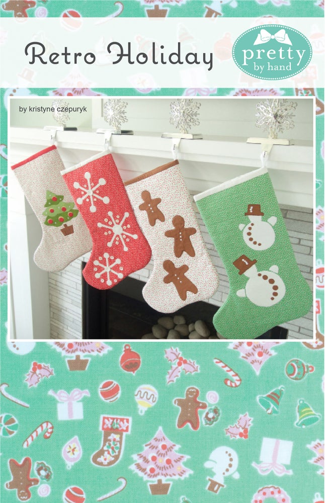 Image of Retro Holiday Stockings - PDF Only