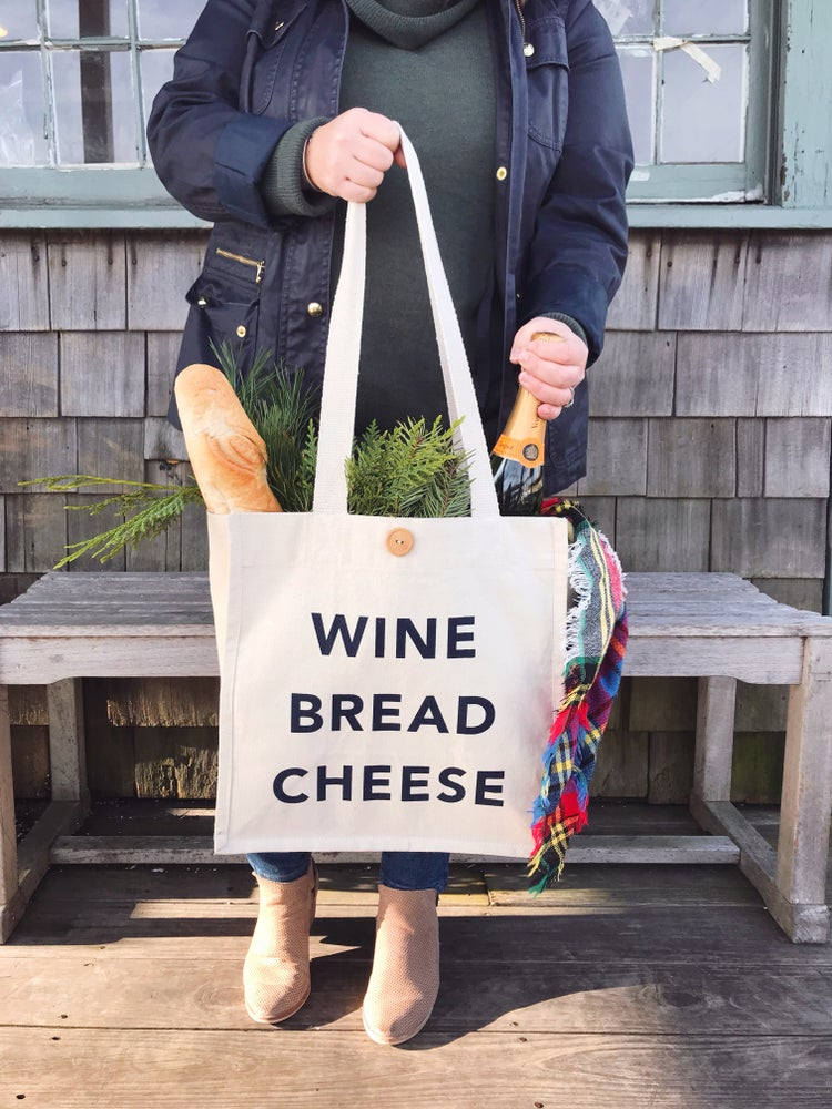Image of Wine Bread Cheese Tote Bag