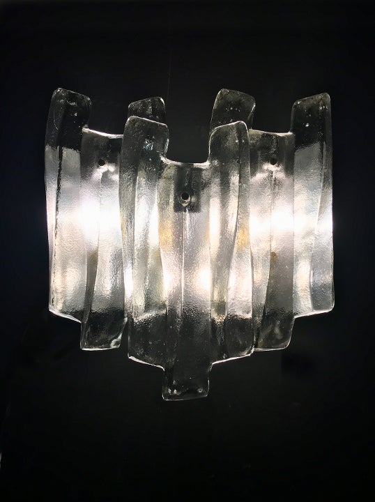 Image of Large Triple Panel Sconces by Kalmar (3 Pairs Available)