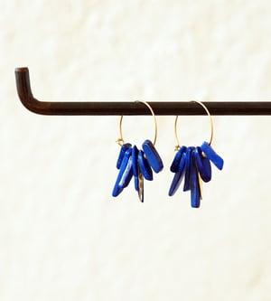 Image of Créoles Lapis Lazuli - PM/GM