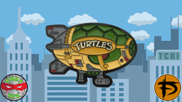 "Image of 2"" Turtle Blimp Soft Enamel Pin (GID)"