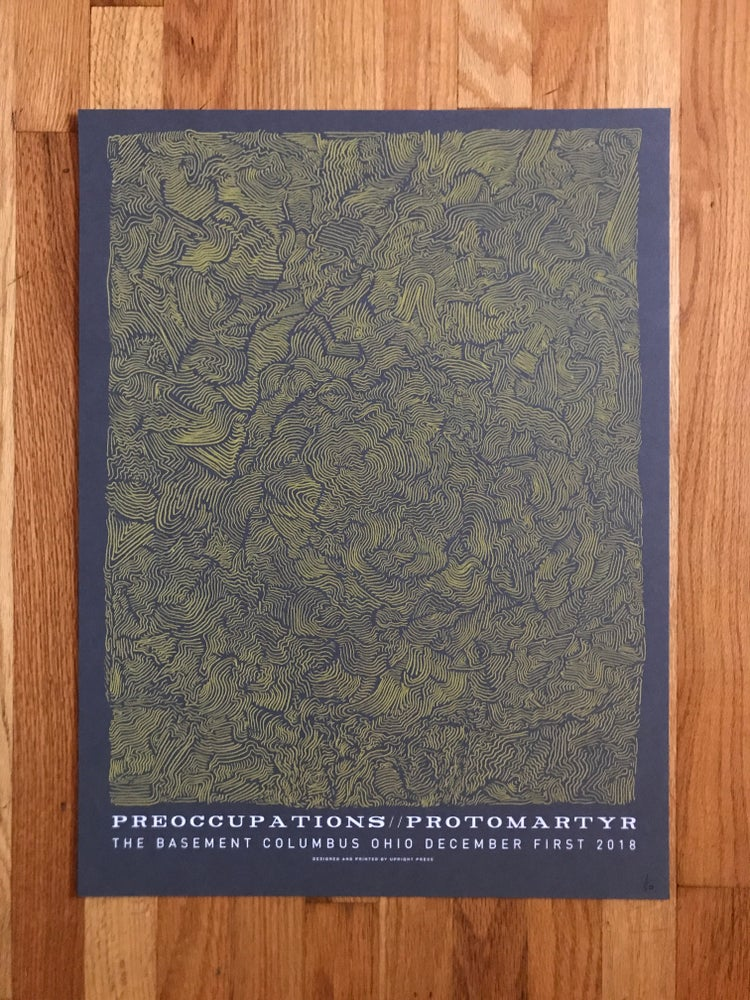 Image of Preoccupations//Protomartyr Poster