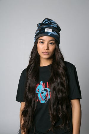Image of CAMO BLUE BEANIE