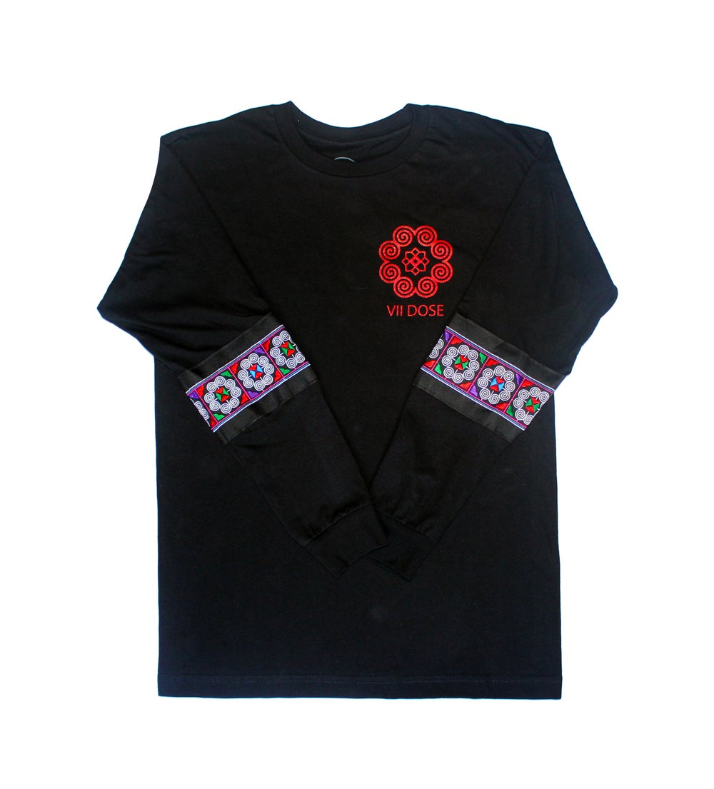 "Image of ""Roots & Culture"" Long Sleeve Tee (Black)"