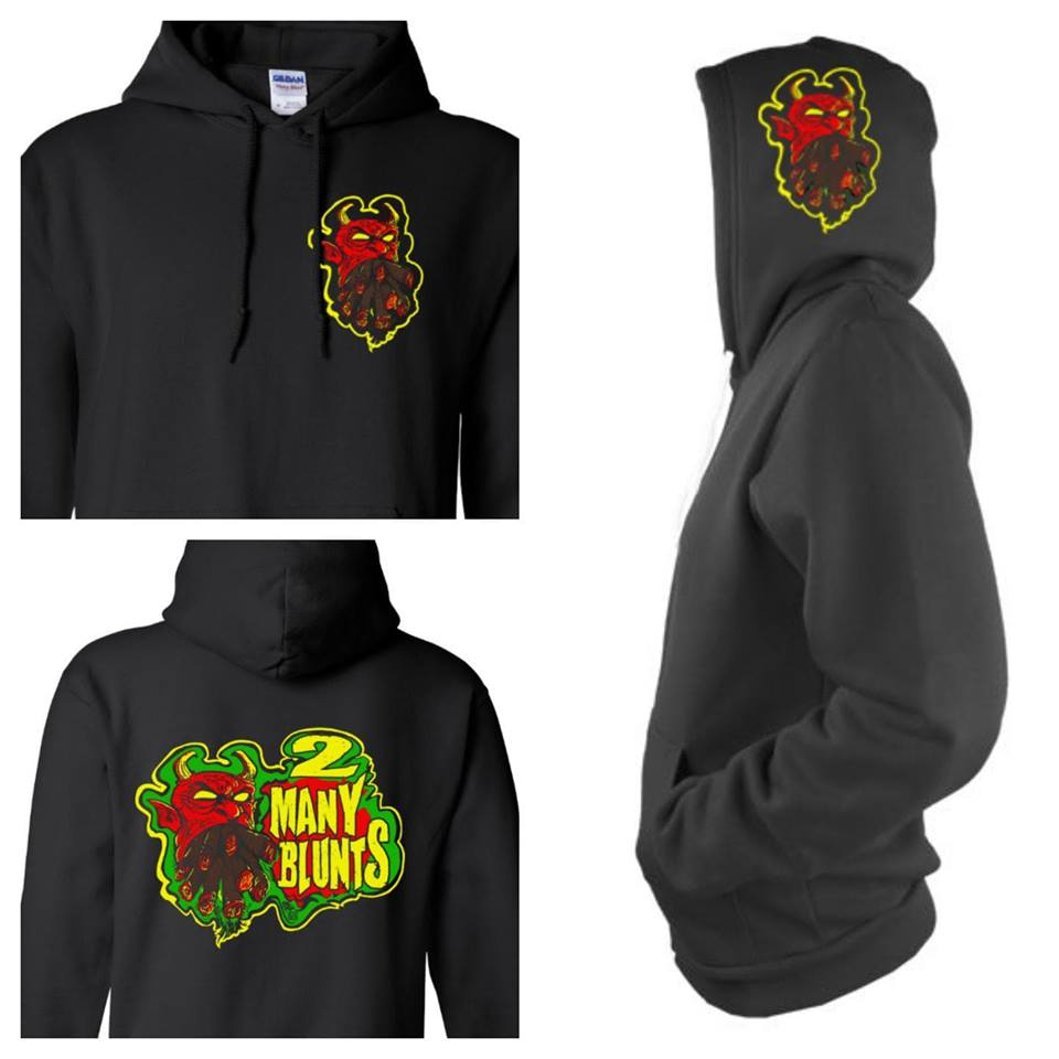 Image of 2 MANY BLUNTS PULLOVER HOODIE (PREORDER SHIPS FEB 6TH)