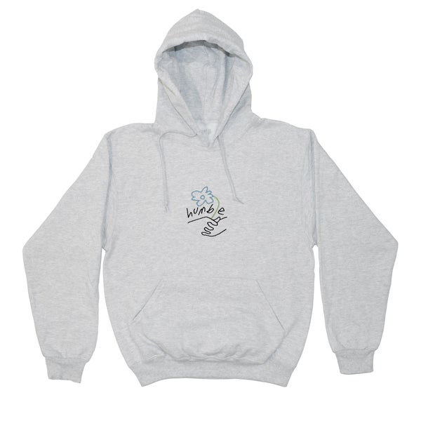 Image of Embroidered Logo Hoody (Heather Grey/Multi Color)