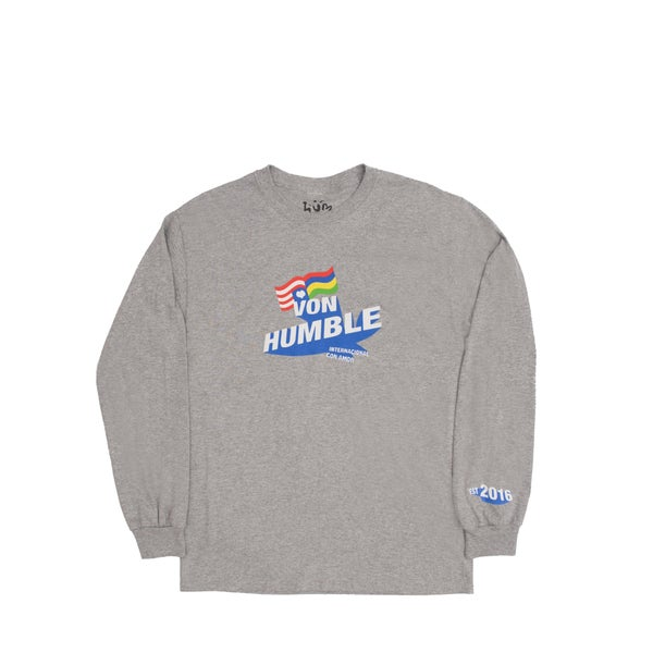 Image of Von Humble Long Sleeve (grey/blue)