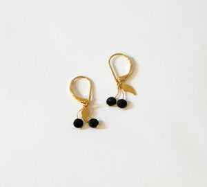 Image of Boucles Cerises Black Cherries - Plaqué Or 24C