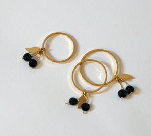 Image of Bagues Cerises Black Cherries - Plaqué Or 24C