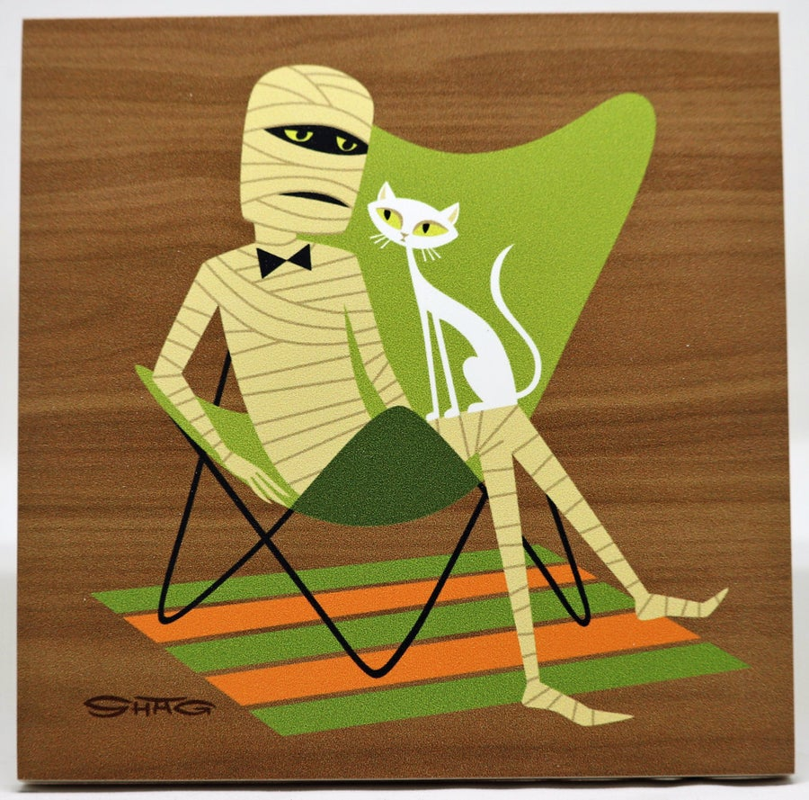 "Image of ""The Dead Pharaoh"" <br>Limited Edition <br>Print on Wood"