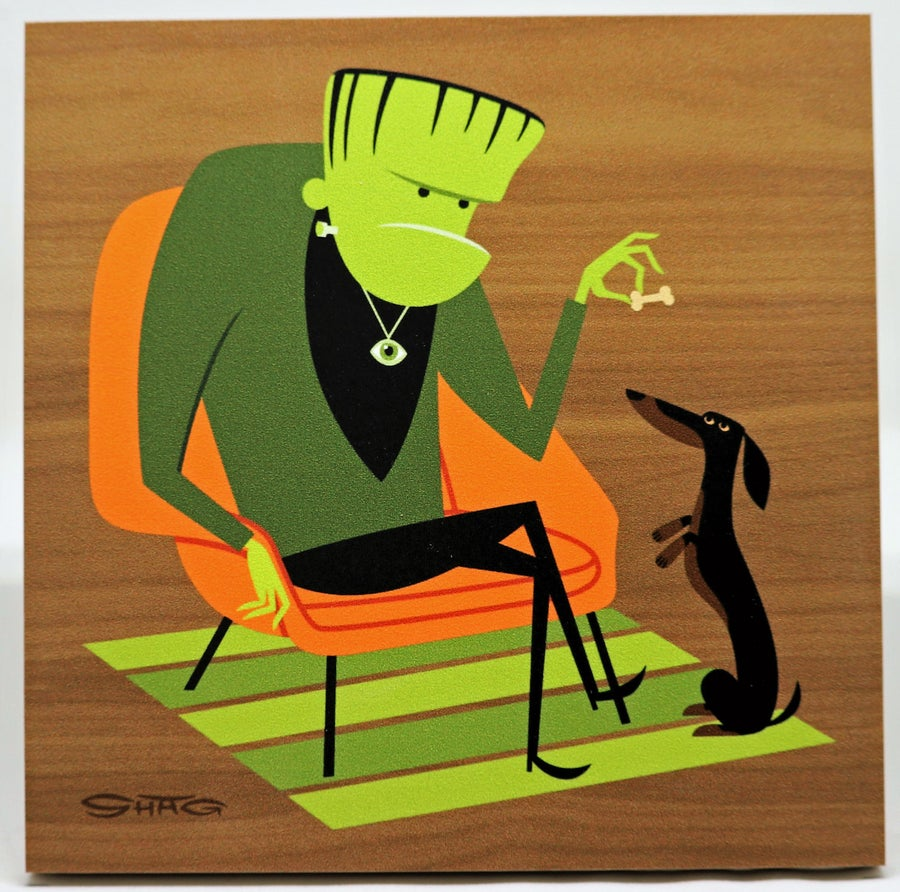 """Image of """"The Greenish Monster"""" <br>Limited Edition <br>Print on Wood"""