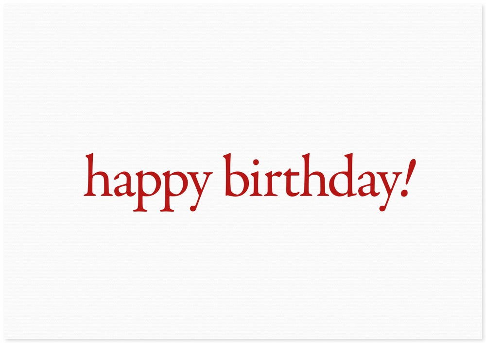 Image of happy birthday | red