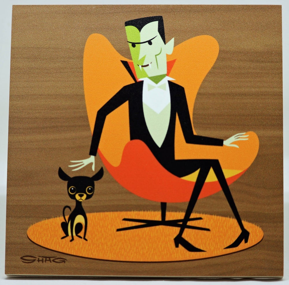 "Image of ""The Undead Count"" <br>Limited Edition <br>Print on Wood"