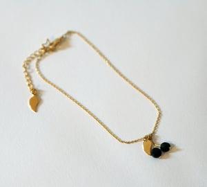 Image of Bracelet Cerises Black Cherries - Plaqué Or 24C
