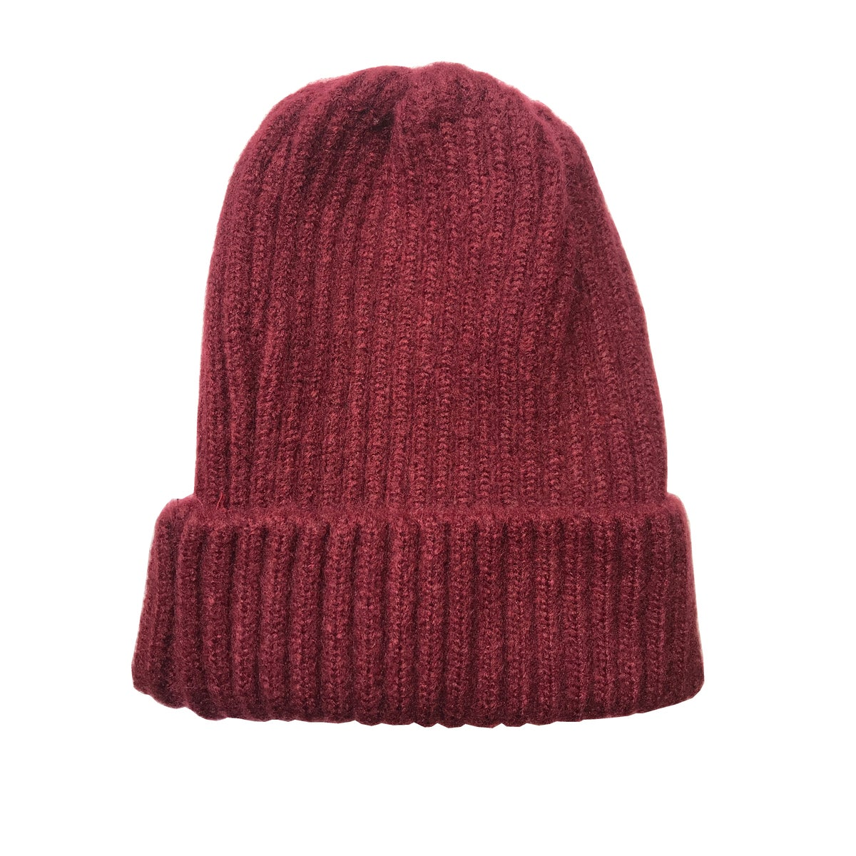 Image of Soft Fisherman's Beanie/ Watch Cap. Burgundy.