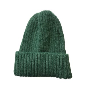 Image of Soft fisherman's style beanie/ watch cap. Leaf Green