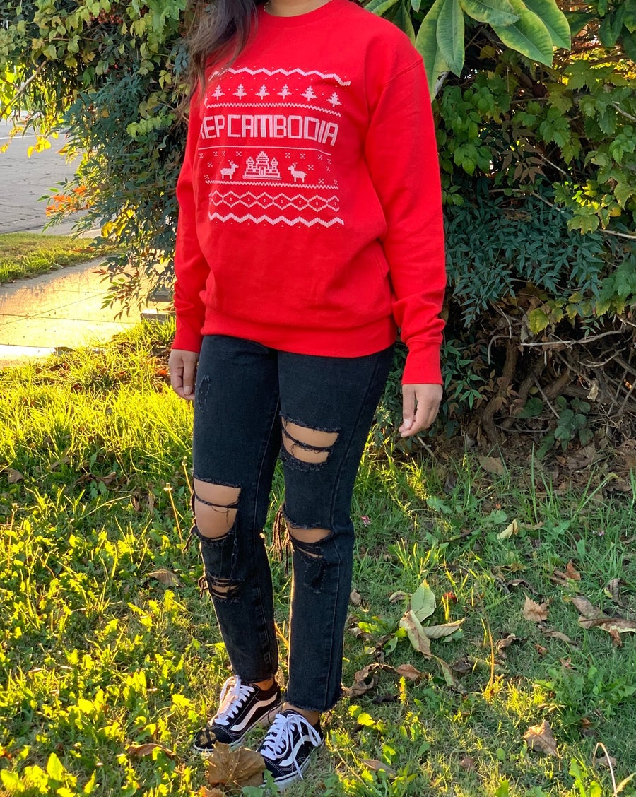 Image of RepCambodia Ugly X Mas Crewneck Sweater *