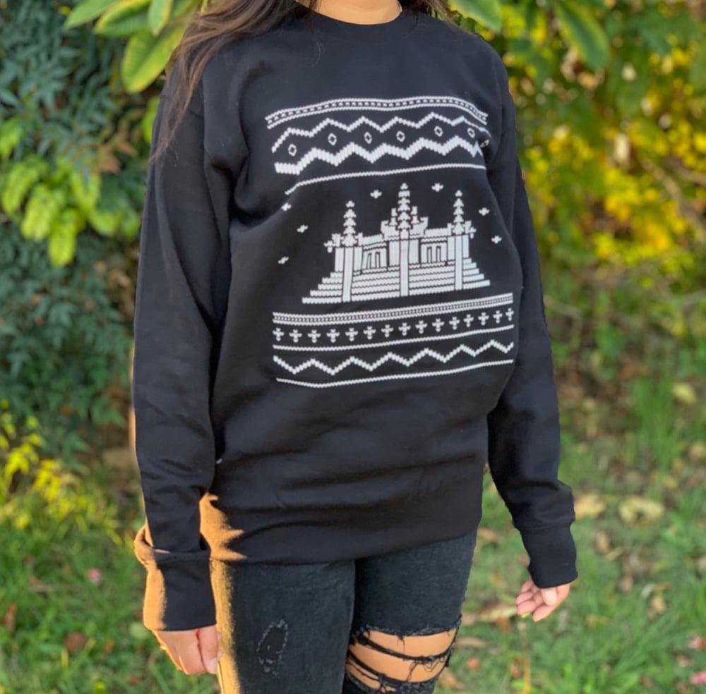 Image of Angkor Wat Ugly Xmas Crewneck Sweater